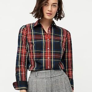 J. Crew Slim Stretch Perfect Shirt Stewart Tartan